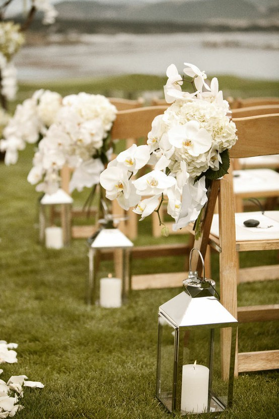 Blending beautiful wedding wednesday ceremony aisle decor for Aisle decoration for wedding