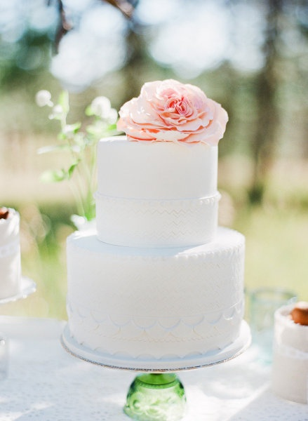 Blending Beautiful Wedding Wednesday All White Cakes