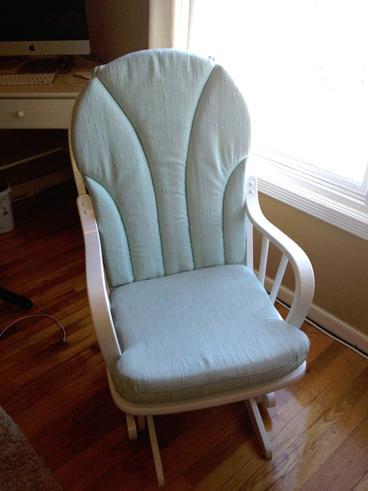 blending beautiful} » before and after: rocking chair makeover